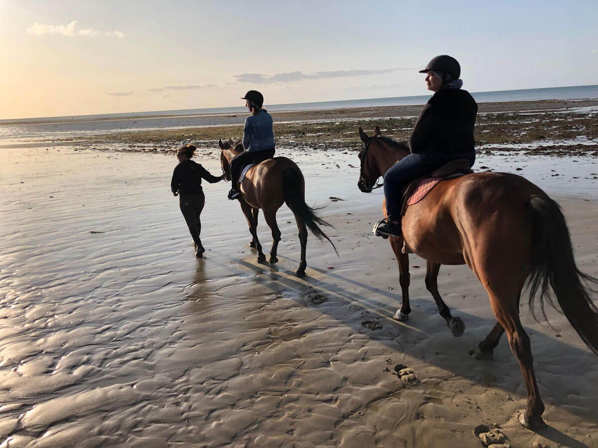 Horse riding on the Normandy coast