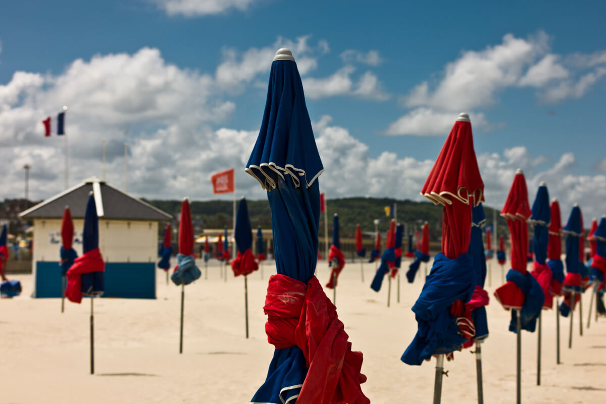 the parasols of deauville